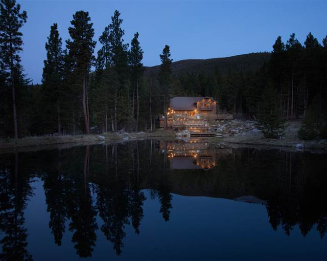 Lodge Lake Triple Creek Ranch Montana US