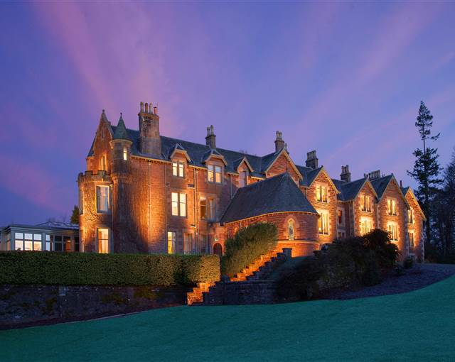cromlix house   nightfall