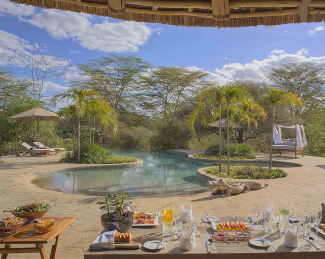 finch hatton kenya al fresco pool dining