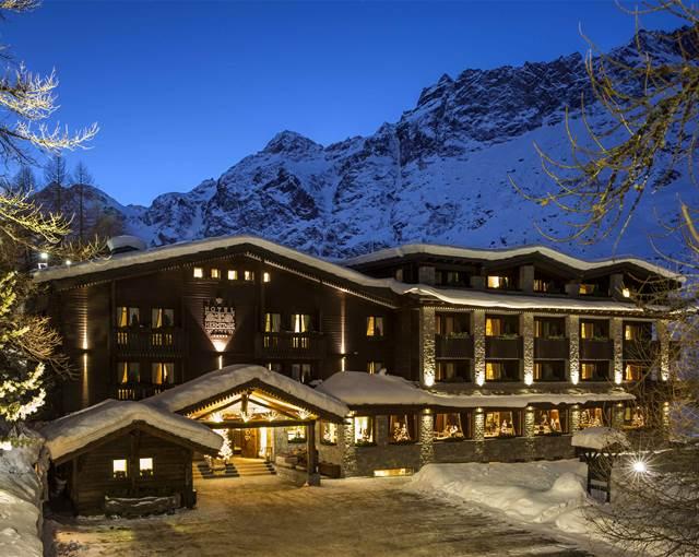 hotel hermitage cervina esternal