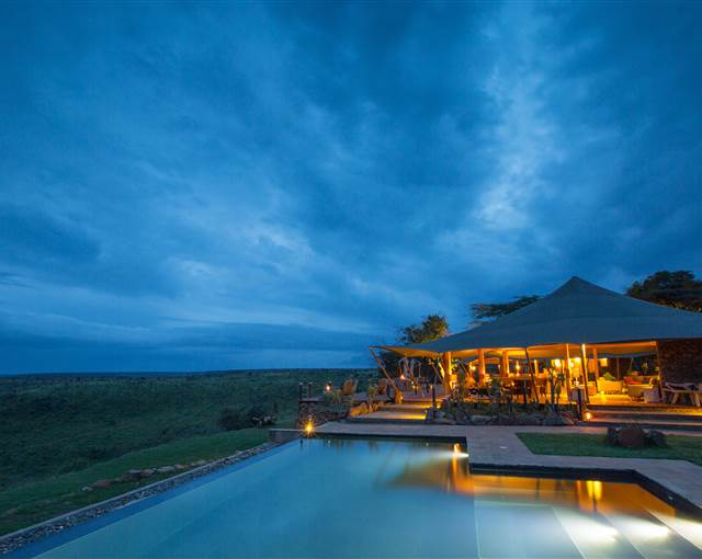 loisaba tented camp-main areas and pool