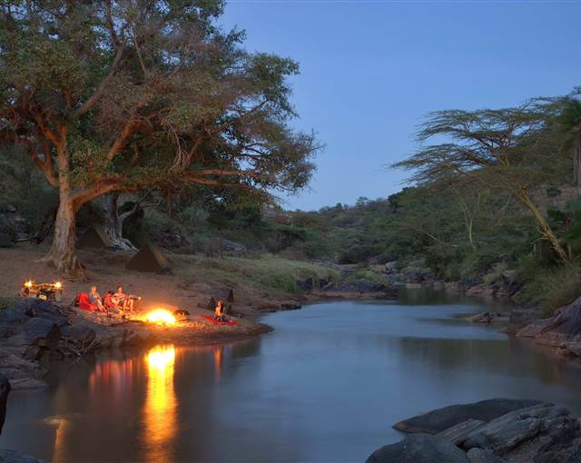 ol malo kenya fly camping by river