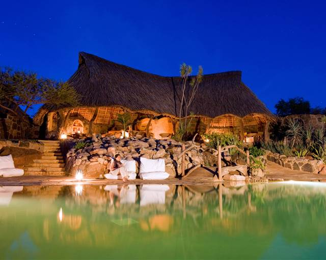 ol malo house kenya pool at night