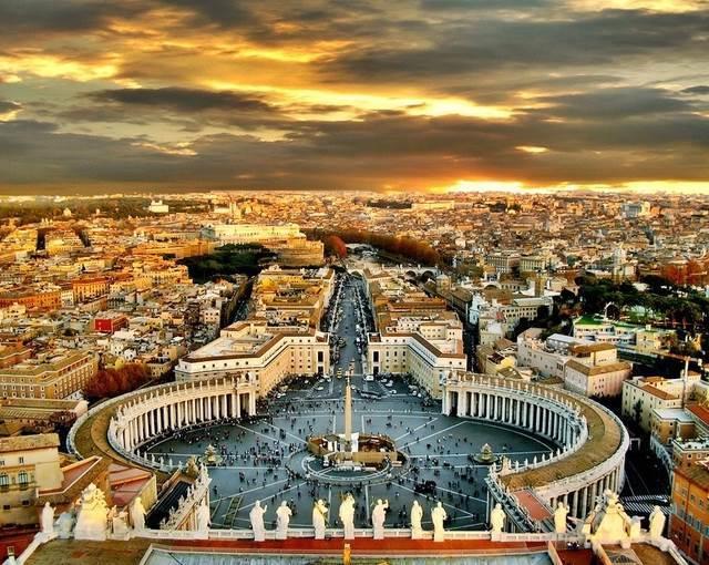 rome san pietro square italy europe