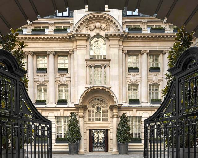 rosewood london entrance wrought iron ga