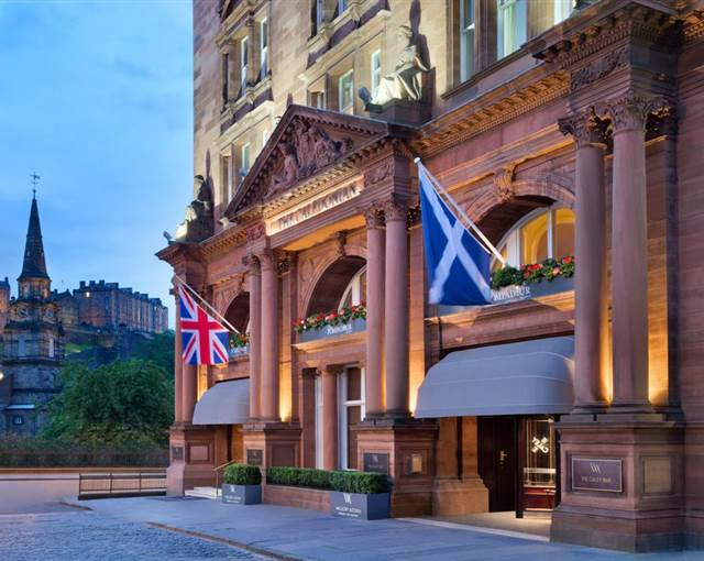 waldorf astoria edinburgh exterior