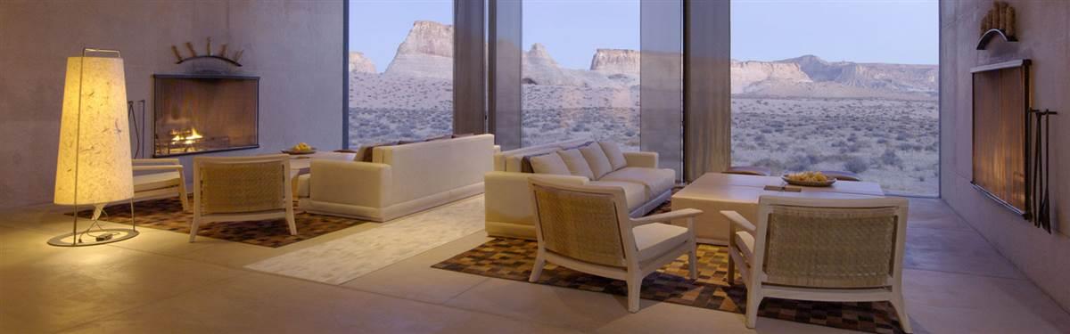 Amangiri Utah living room
