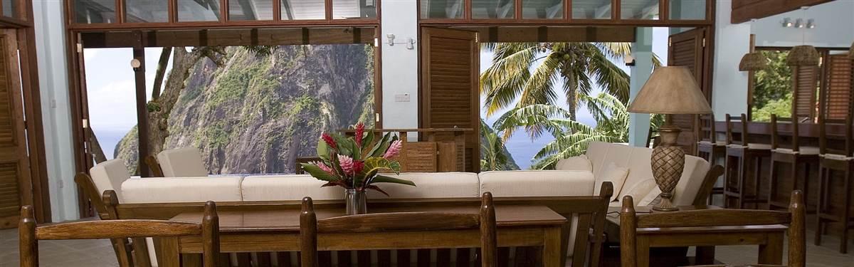 Ladera Resort St Lucia livingroom