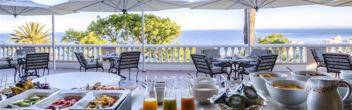 ellerman house breakfast terrace