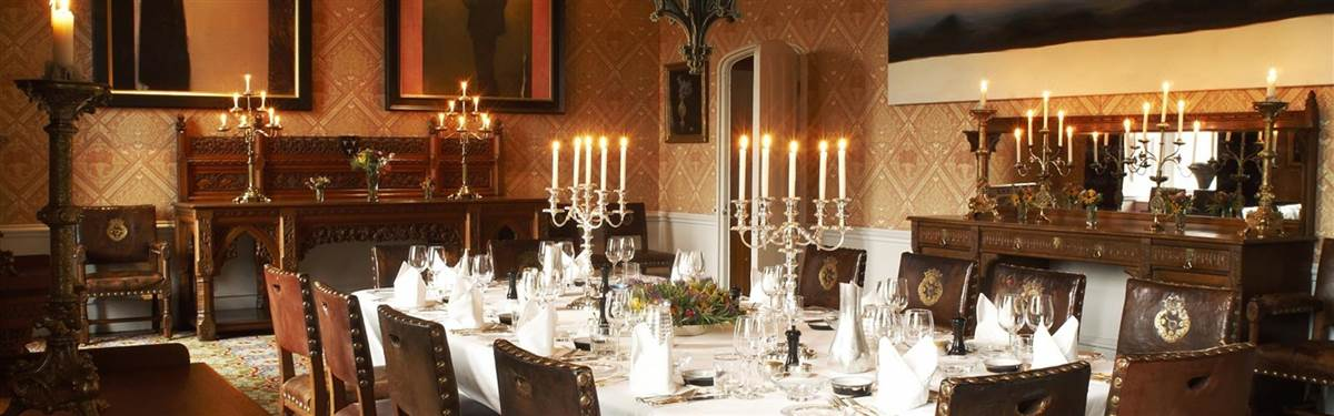 Dining Lismore castle