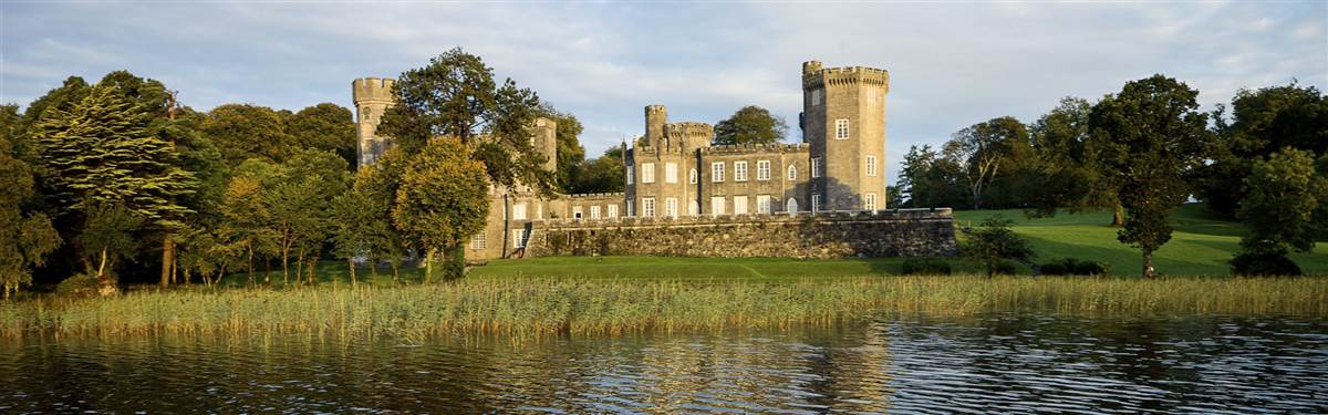 lough cutra castle lake view