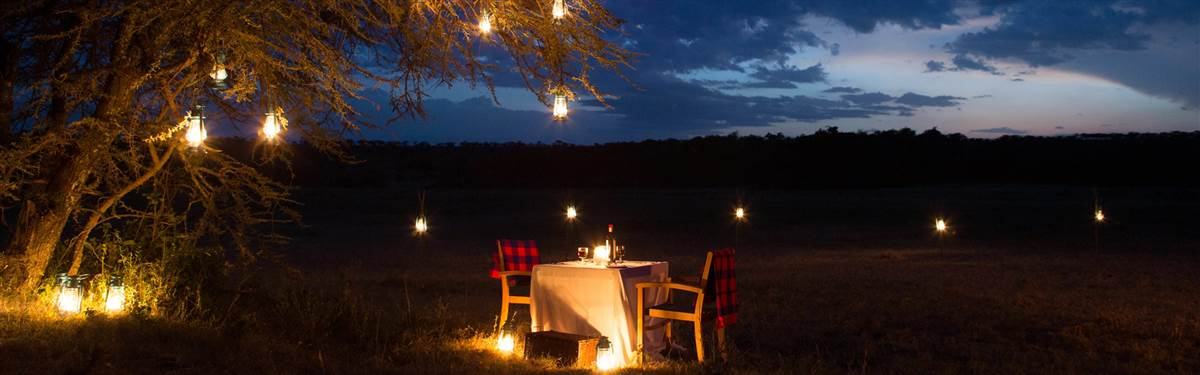 mahali mzuri kenya dinner in the bush