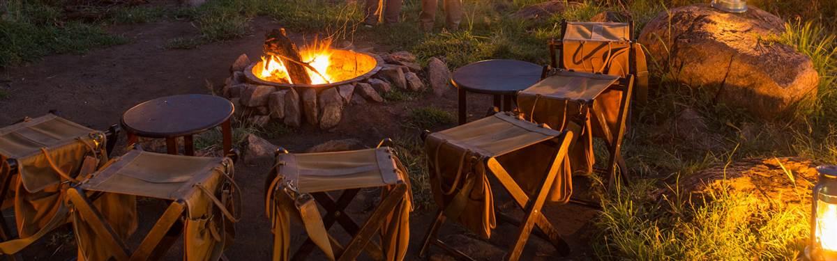 serengeti pioneer camp campfire