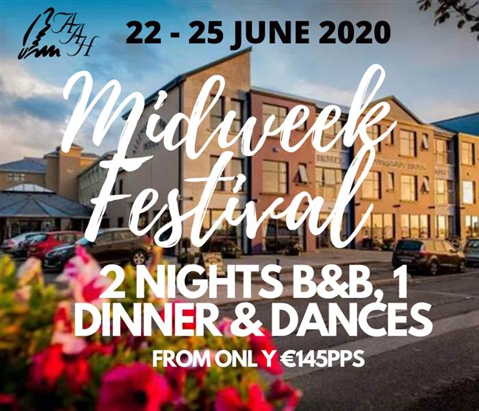 2 B&B, 1 Dinner & Dances - Midweek Festival