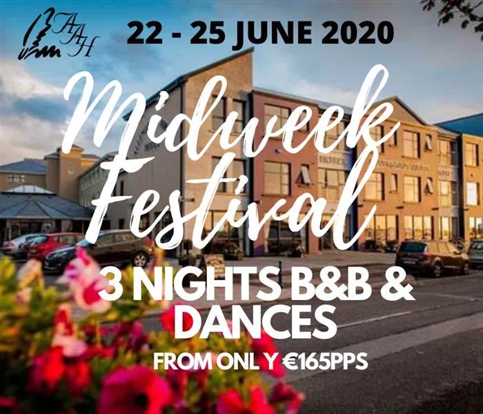 3 B&B & Dances - Midweek Festival
