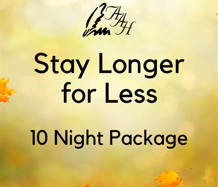 Stay Longer for Less 10 Night Package