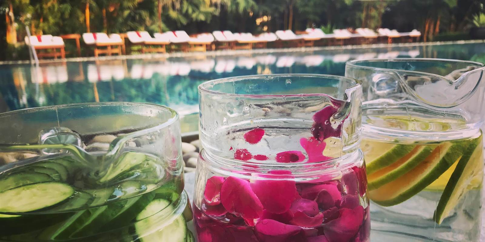 Flavoured Water by poolside