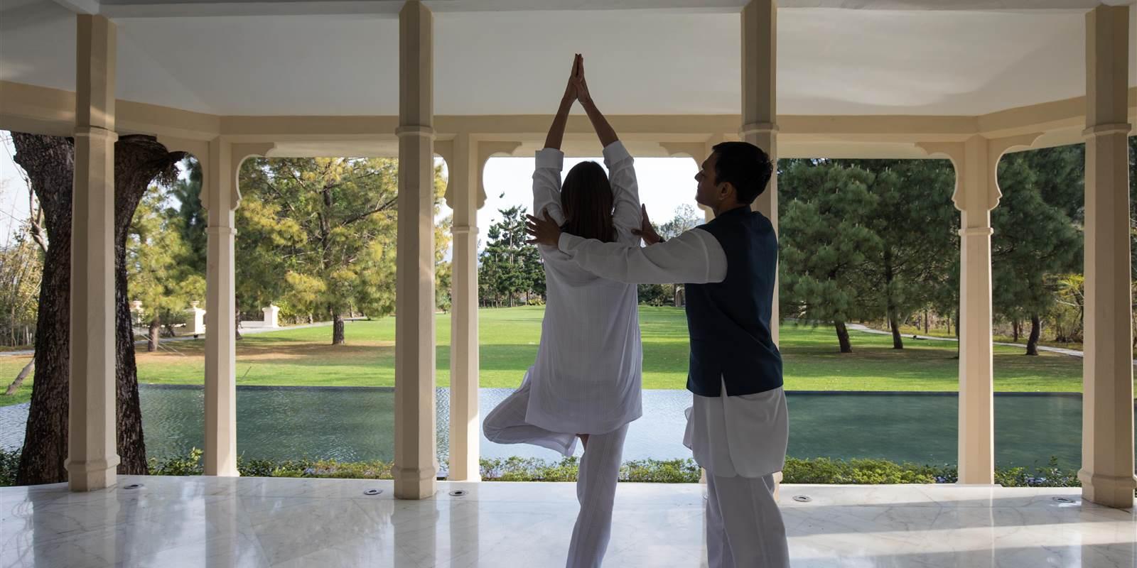 Shuddhi Kriyas. Yoga and Meditation in Ananda Spa in The Himalayas