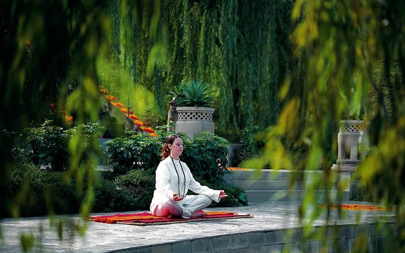 Meditation Retreat in The Himalayas. Ananda Spa Hotel