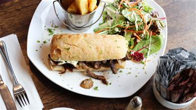 Steak Sandwich at The Arches