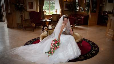 bride in foyer