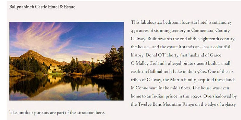 5 Top Pick Irish Castle Hotels Best Of Ireland Series