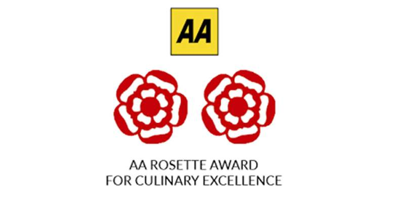 Two AA Rosettes for Culinary Excellence for 2018-2019