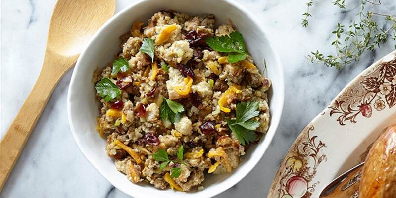 Cranberry and Apricot Bread Stuffing