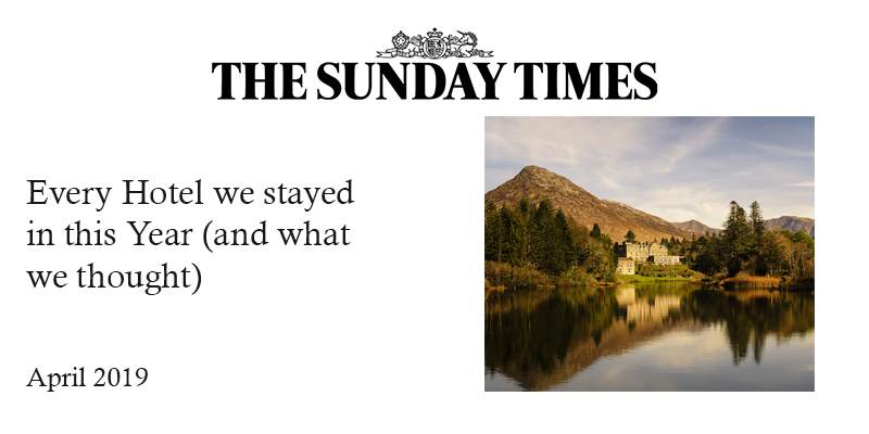 The Sunday Times: Every Hotel We Stayed in this Year