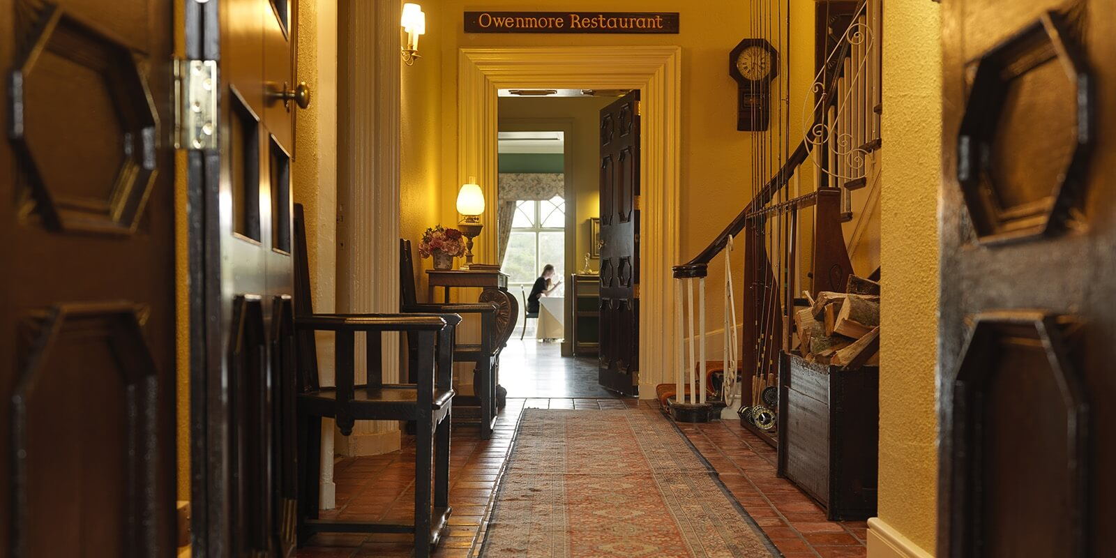 Entrance to the Owenmore Restaurant