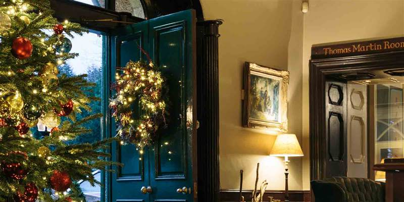 Ballynahinch Front door at Christmas