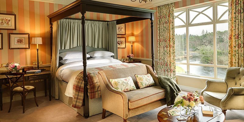 Our large beautiful riverside suites are extremely comfortable and have spectacular views over river and woodland
