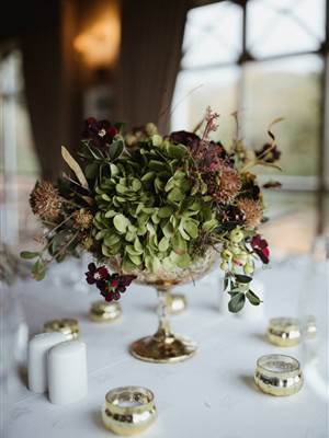 ballynahinch wedding table flowers
