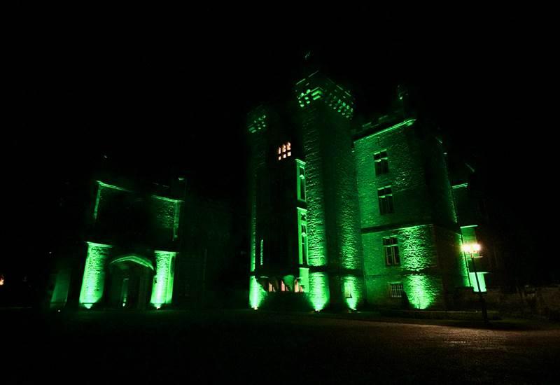 Romantic Castles of Ireland turn Green for St. Patricks Day