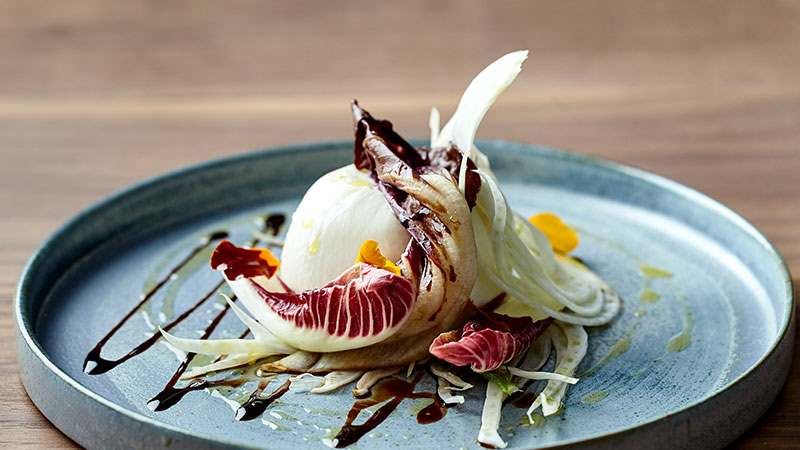 Art yard Burrata treviso shaved fennel
