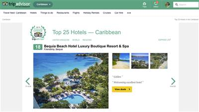 Bequia Beach Hotel wins award