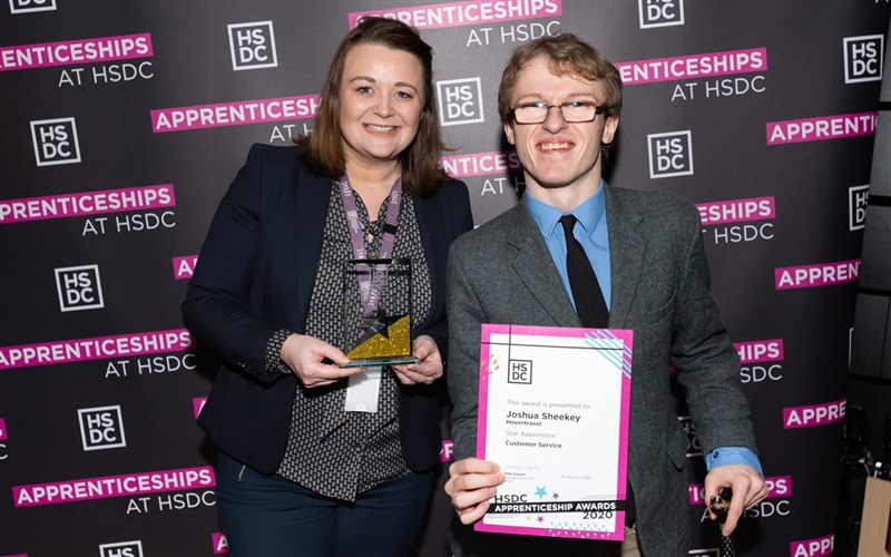 HSDC Star Apprenticeship Award Josh  me