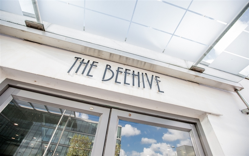 Beehive entrance at Gatwick
