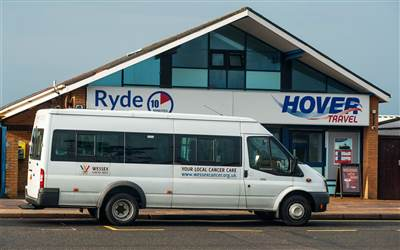 Hovertravel - Minibus at entrance