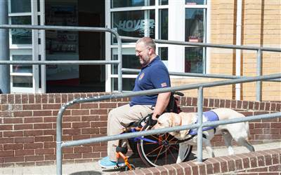 HoverCare - Customer with their guide dog