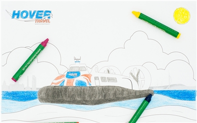 Hovertravel Free Colouring Sheets  medi