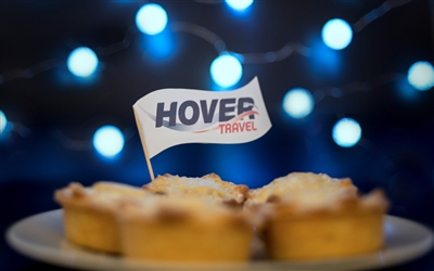 Hovertravel joins mince pies marathon