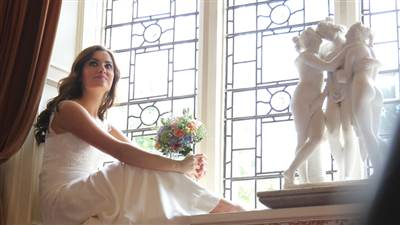 Bride on Window sill