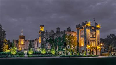 Cabra Castle at Night