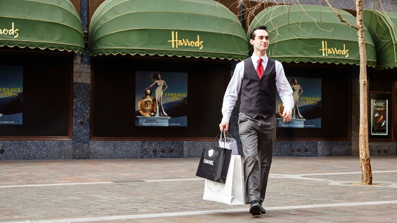 Concierge carrying your shopping home