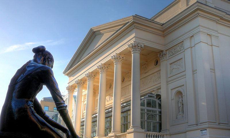Royal Opera House and ballerina