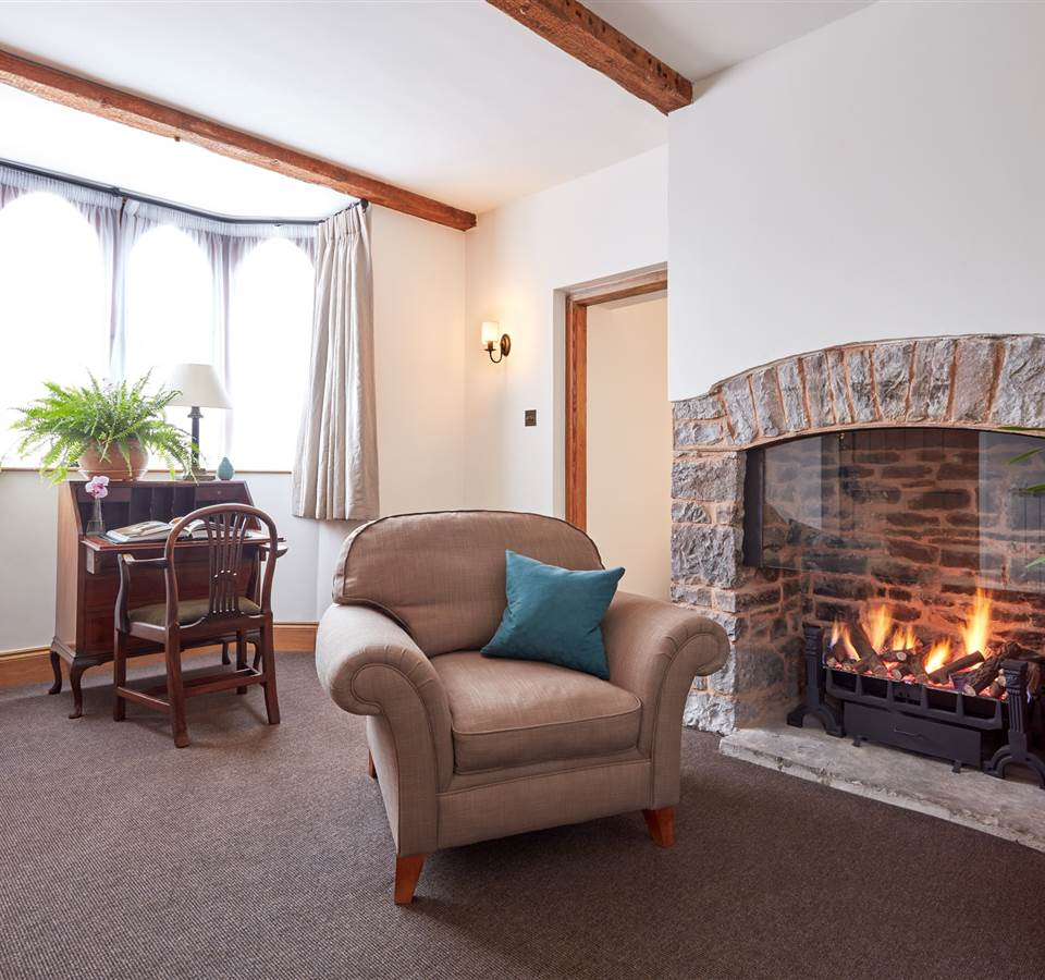 Living room at The Lodge cottage in UK