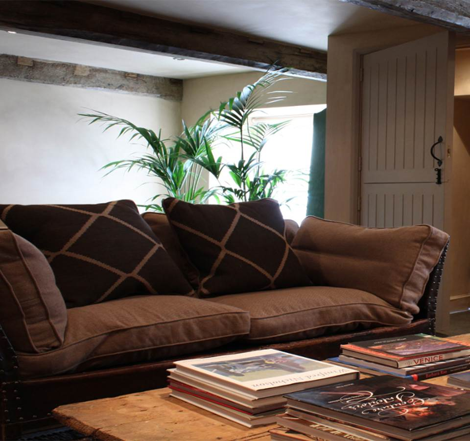 Living room at Castle Lodge Cottages in South Wales