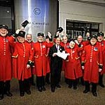 The Chelsea Pensioners come for tea at The Cavendish, London