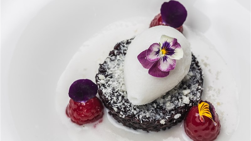 Black Rice Pudding with Coconut Sauce
